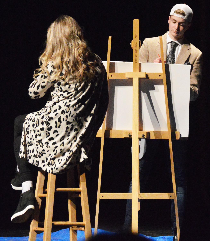 PAINTING.+Jake+Cummings+%2811%29+paints+a+portrait+for+his+talent.