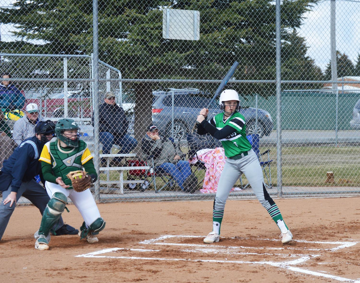 BATTER+UP.+Chloe+Cronquist+%2811%29+gets+ready+to+hit+the+ball.+
