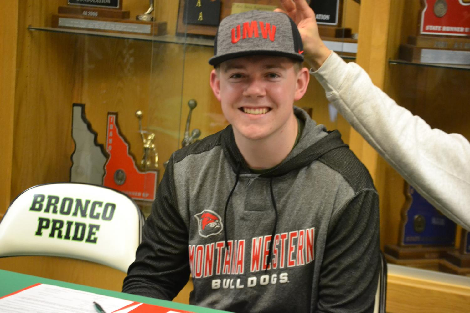 Craig Young before signing onto University of Montana Western