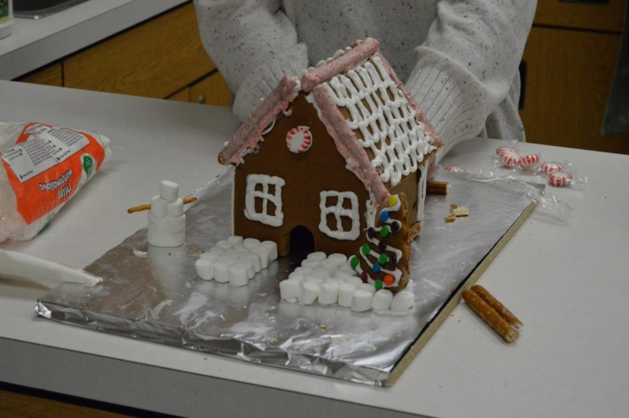Gingerbread house made in Mrs. Lukers culinary class